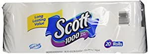 Scott Bath Tissue, 1000 Sheet Rolls (20 Rolls)