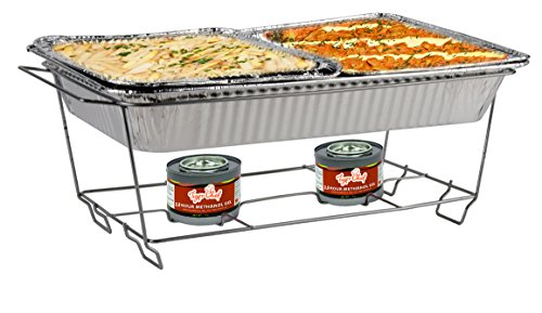 Disposable Food Warmers ~ Tiger chef disposable full size wire chafer stand kit
