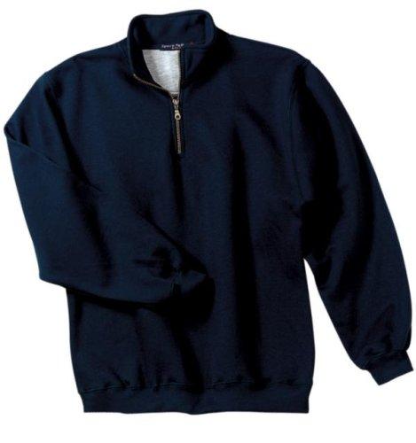 Sport-Tek 1/4 Zip Sweatshirt, Navy, Medium front-1037495