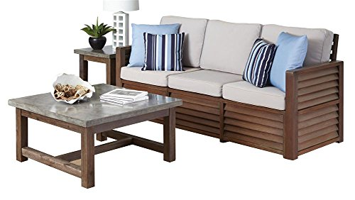 3-Pc Upholstered Living Room Set With Accent Pillows