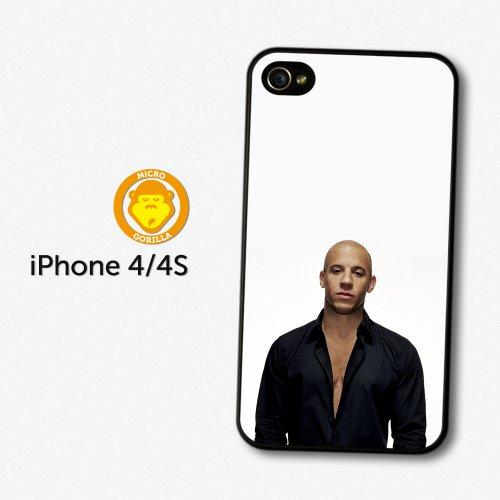 Vin Diesel Portrait Black Shirt Actor Case For Iphone 4 4S A600