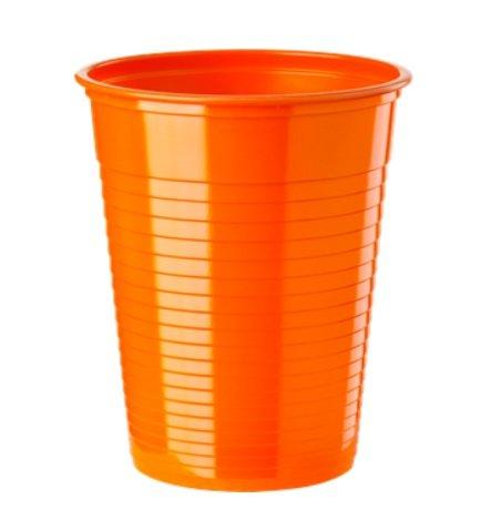 Paquet de 50 gobelets plastique 20cl orange