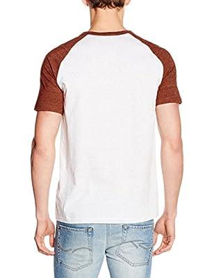 New Look Men's Fabric Interest Raglan T-Shirt