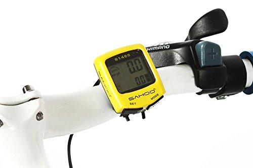 Bike Premium Sahoo 81488 Waterproof Bicycle Odometer Speedometer (Yellow)