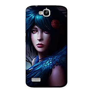 Enticing Crossed Angel Multicolor Back Case Cover for Honor Holly