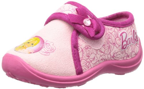 Barbie kids velcro low houseshoes BA550021, Pantofole ragazza, Multicolore (Mehrfarbig (PINK/FUXIA)), 29