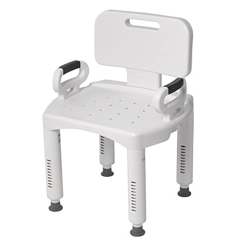Drive Medical Premium Series Shower Chair with Back and Arms (Handicap Tub Seat compare prices)