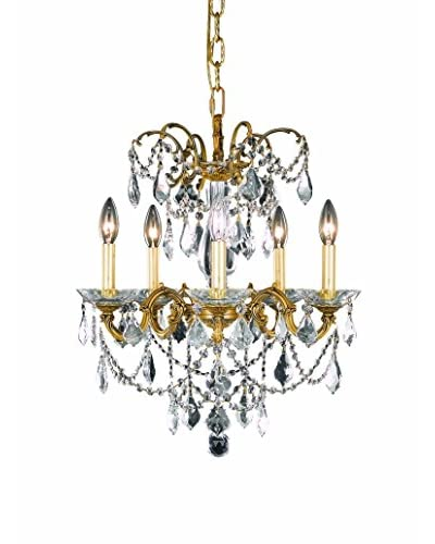 Crystal Lighting Athena 5-Light Hanging Fixture, French Gold