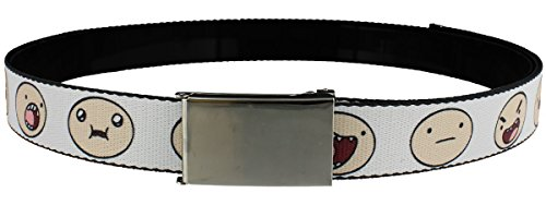 Adventure Time Finn Expressions AT Web Belt White