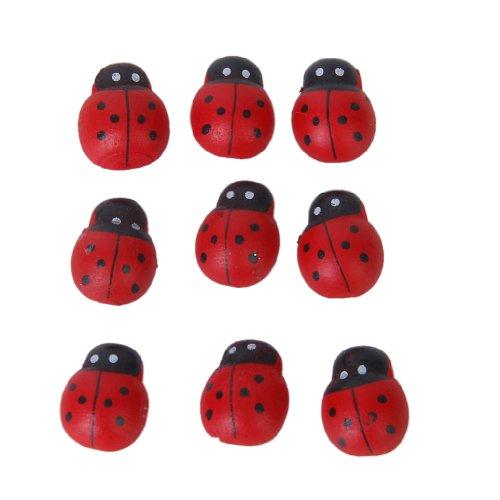 100-pezzi-piccolo-scarabeo-spugna-adesivo-adesivo-coccinella-di-legno