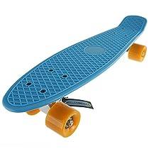 Bl-or Deluxe Complete Plastic Skateboard Blue Board