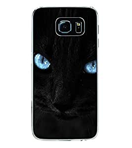 Cat with Blue Eyes 2D Hard Polycarbonate Designer Back Case Cover for Samsung Galaxy S6 G920I :: Samsung Galaxy G9200 G9208 G9208/SS G9209 G920A G920F G920FD G920S G920T