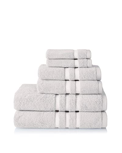 Chortex Irvington 6-Piece Towel Set, Silver