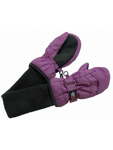 SnowStoppers Kid's Waterproof Stay On Winter Nylon Mittens Small / 1-3 Years Deep Lilac