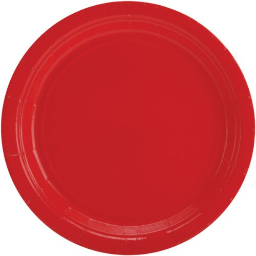 Sale!! Big Party Pack Paper Dinner Plates 9-Inch, 50/Pkg, Apple Red