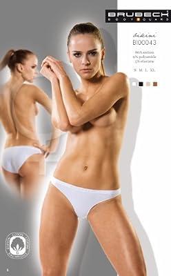 5x Brubeck Damen Bikini Slip PerfectFit nahtlos Modell 2011 oder 2012 ( Damen Unterwäsche Sport Funktionswäsche Baumwolle Polyamid Premium Qualität) from Brubeck