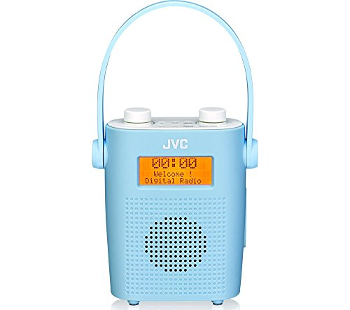 jvc-water-resistant-portable-dab-fm-bathroom-clock-radio-blue-alarm-snooze-function-mains-and-batter
