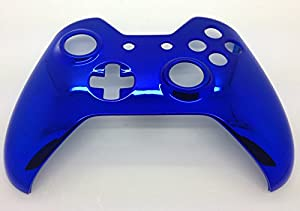 Xbox One BLUE Chrome Controller housing Shell - Original Top shell by Microsoft Software