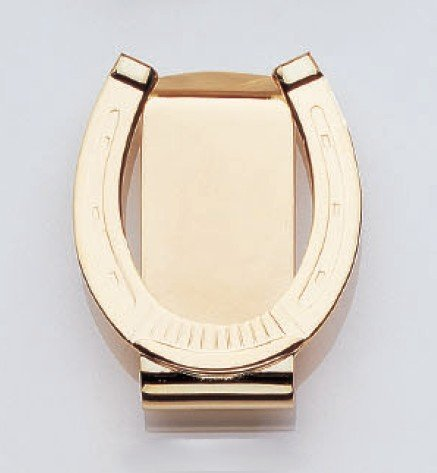 23K Gold Electroplated Horseshoe Money Clip