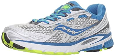 Saucony Women's Progrid Ride 5 Running Shoe,White/Teal/Grey,5.5 M US
