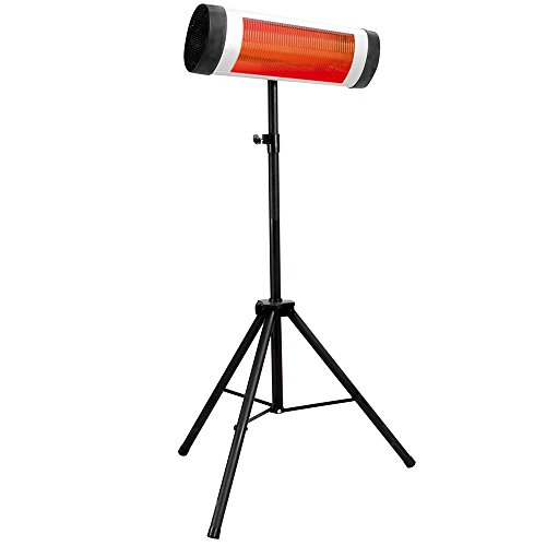 4CXM3 Lava Heat Italia LHI-TORANO-1500W-SLV-EL Patio Heater Torano Infrared with Tripod, 1500-Watt, Silver