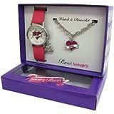 Ravel - R3301 - Coffret Cadeau - Montre Fille - Quartz Analogique - Bracelet Plastique Rose + Bracelet Coeur