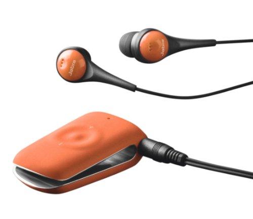 Jabra Clipper Bluetooth Stereo Headset - Retail Packaging - Tangerine Tango