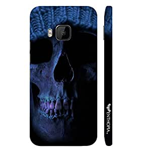 HTC One M9 HOODED SKULL designer mobile hard shell case by Enthopia