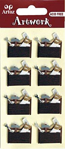 Artoz-Artwork-3D-Motiv-Sticker-185590-118-Werkzeugtasche-Motive-Gabelschlssel-Hammer-und-Sge
