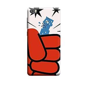 Qbic Designer 3D Printed Hard Mobile Back Case Cover for Xiaomi Mi5
