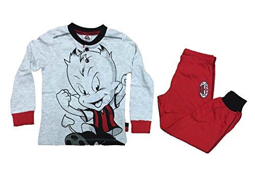 pigiama bambino ragazzo A.C.M MILAN prodotto ufficiale maglia e pantalone