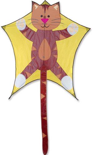 Premier 45972 5-Sided Polygonal Penta Kite with Solid Fiberglass Frame, Tabby