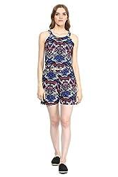 MARTINI Zebra Print Blue Top & Shorts Co-ord Set