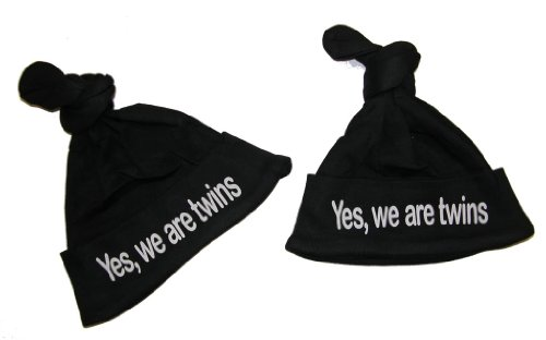 So Relative! Baby Knotted Hat Set- Twins Yes, We Are Twins 2-Pack