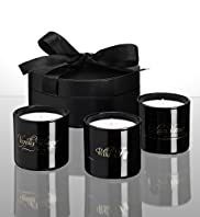 Marcel Wanders Dark Nights Set of 3 Votive Candles