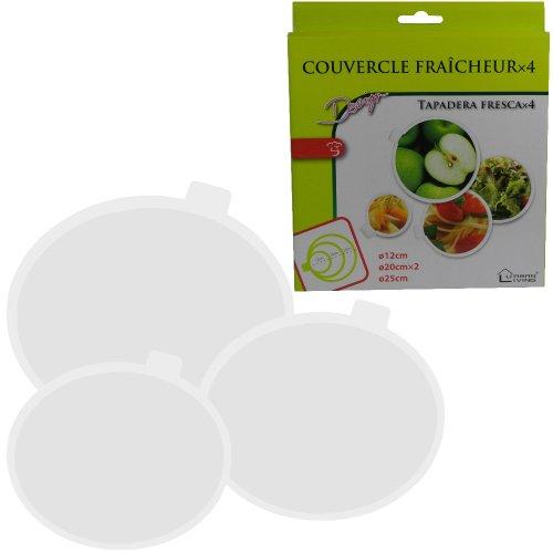 -Lot 4 Couvercles Fraicheur Cuisine Spécial Conservation Aliments