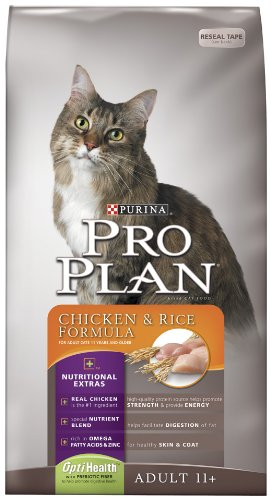 See Purina Pro Plan Dry Senior Cat Food, Chicken and Rice Formula, 3.5-Pound Bag