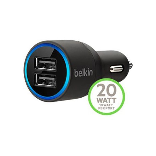 Belkin F8J071bt04 2 Port Car Charger (with Lightning USB Cable)