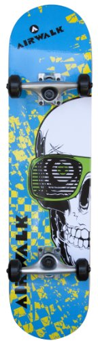 Learn More About Airwalk Undone Skull Blue Complete Skateboard