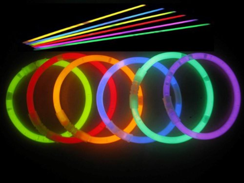 Ggi 8 Inch Glow Sticks, Assorted Colors, Pack Of 100