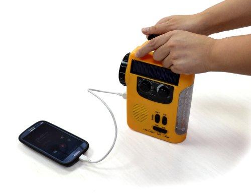 手動充電可能ラジオライトエマージェンシーライト