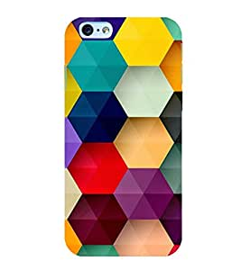 Multicolour Bright Pattern 3D Hard Polycarbonate Designer Back Case Cover for Apple iPhone 6
