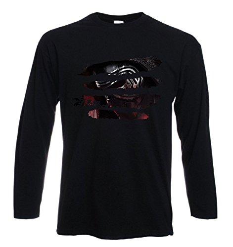 t-shirt manica lunga tribut Star Wars, graffi, maschera - S M L XL XXL uomo donna bambino maglietta by tshirteria