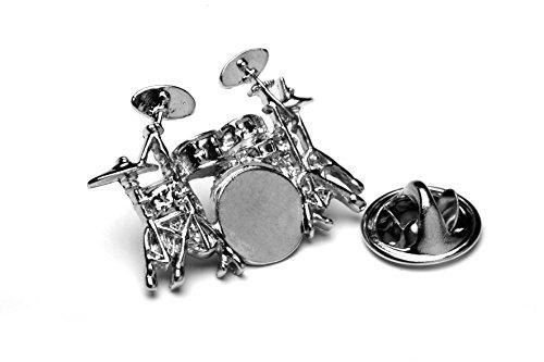 Schlagzeug-Abzeichen-mit-Geschenk-Tasche-Unique-Silber-Metall-Design