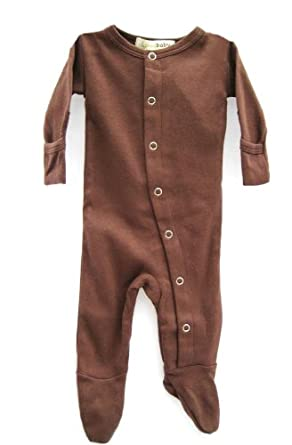 L'ovedbaby Gloved-Sleeve Overall, Brown 0-3 Months