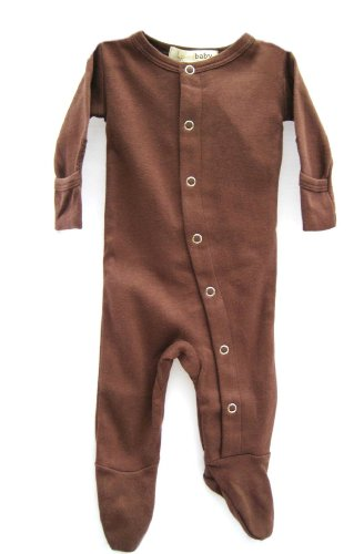 L'Ovedbaby Gloved-Sleeve Overall, Brown Newborn front-867544