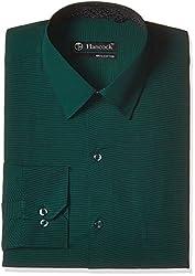 Hancock Men's Formal Shirt (9329Green_42)