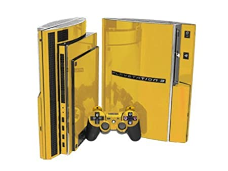 PlayStation 3 Skin (PS3) - NEW - GOLD CHROME MIRROR system skins faceplate decal mod