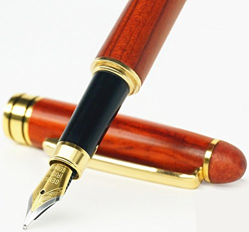 Ideapool Natural Handcrafted Rosewood Fountain Pen With