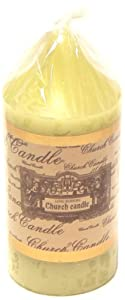 100% Wax Cream Church Candle 10 x 22cm from Smithers Oasis